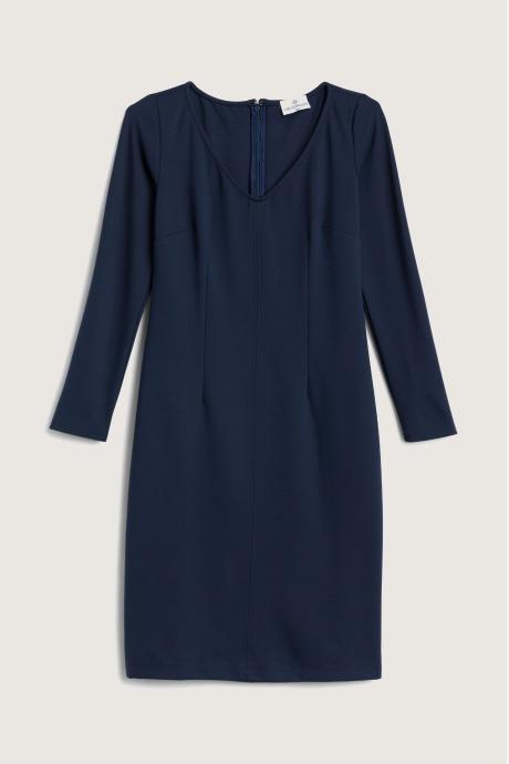 Stitch Fix Elevate Chloe Kristyn women's long sleeve, black shift dress.
