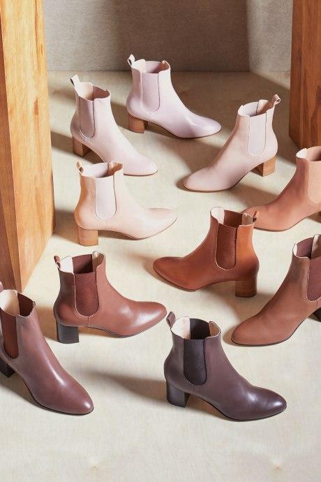 Stitch Fix Elevate grantees women's multi skin-tone nude boots.