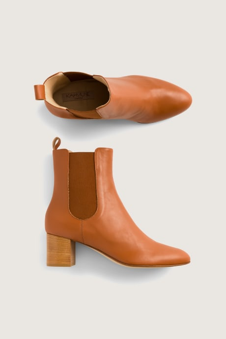 Stitch Fix Elevate grantees women's booties in camel color.