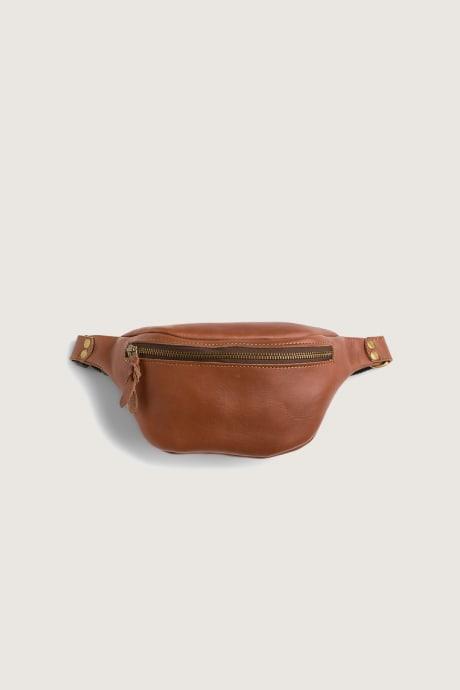 Stitch Fix Elevate grantees women's tan leather waist bag.